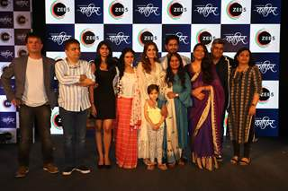 Dia Mirza and Mohit Raina snapped with the cast at the press conference of Kafir