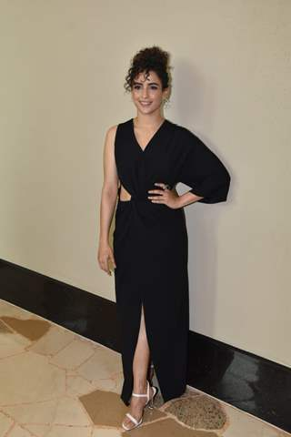 Sanya Malhotra snapped during the promotions of Men In Black International