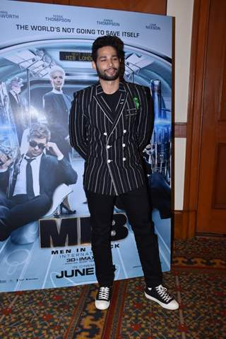 Siddhant Chaturvedi snapped during the promotions of Men In Black International