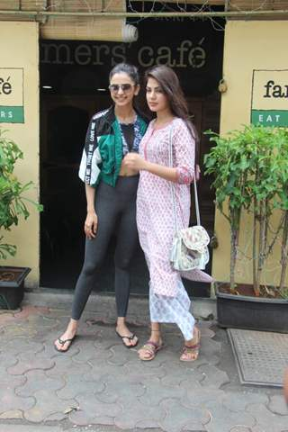 Rakul Preet Singh and Rhea Chakraborty snapped around the town