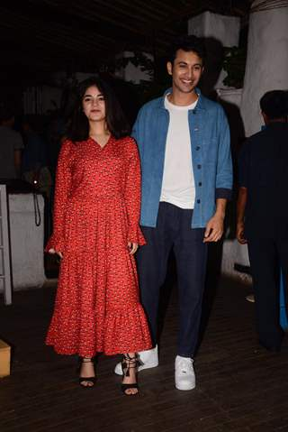 Zaira Wasim and Rohit Saraf snapped at the wrap party of The Sky Is Pink
