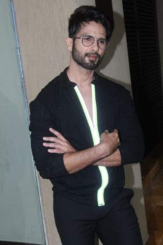 Shahid Kapoor at the promotions of Kabir Singh