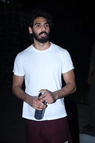 Aahan Shetty spotted around the town!