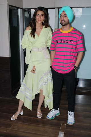 Kriti Sanon and Diljit Dosanjh at promotions of Patiala House