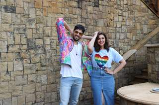 Parineeti Chopra and Sidharth Malhotra at the promotions of Jabariya Jodi!