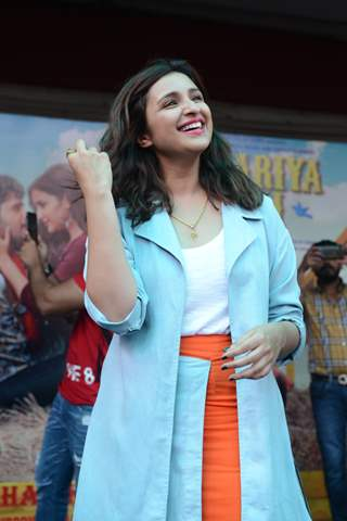 Parineeti Chopra at the promotions of Jabariya Jodi