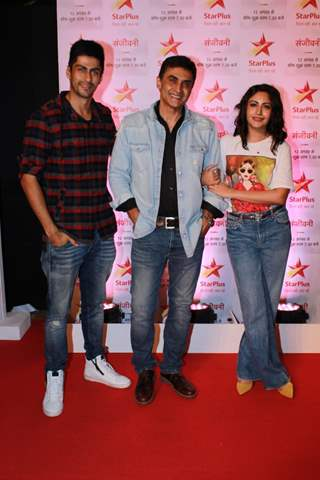 Namit Khanna, Mohnish Behl and Surbhi Chandna