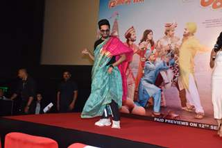 Ayushmann Khurrana snapped during the Dream Girl trailer launch