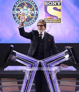 Amitabh Bachchan at the launch of the 11th season of KBC