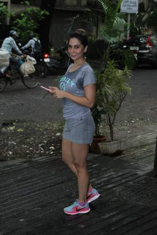 Kim Sharma snapped around the town!