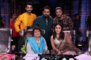 Saroj Khan, Kareena Kapoor Khan, Raftaar, Bosco Martis and Karan Wahi