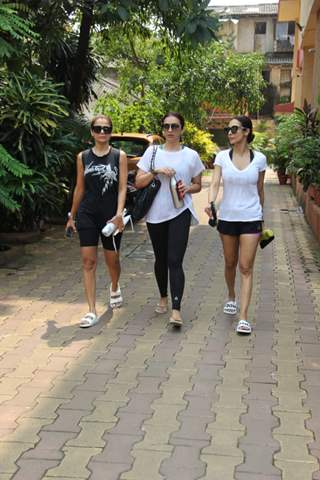 Malaika Arora and Amrita Arora snapped around the town!