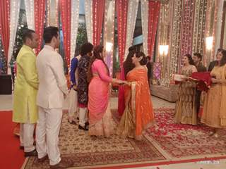 Rohit Sonakshi Engagement Sequence Pictures from Kahaan Hum Kahaan Tum