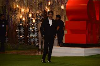 Shah Rukh Khan attends Pre-wedding bash at Ambani's