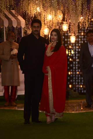 Abhishek Bachchan and Aishwarya Rai Bachchan attend Pre-wedding bash at Ambani's