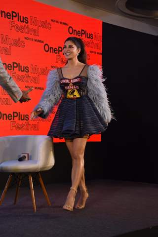 Jacqueline Fernandez attends Oneplus Music festivale press conference in Mumbai!