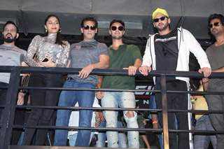 Saiee Manjrekar, Salman Khan, Aayush Sharma, Nikhil Dwivedi and Zaheer Iqbal papped at the launch of Being Strong