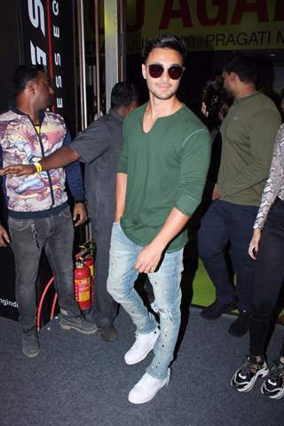 Aayush Sharma papped at the launch of Being Strong