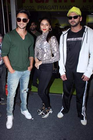 Saiee Manjrekar, Aayush Sharma and Zaheer Iqbal papped at the launch of Being Strong