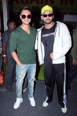 Aayush Sharma and Zaheer Iqbal papped at the launch of Being Strong