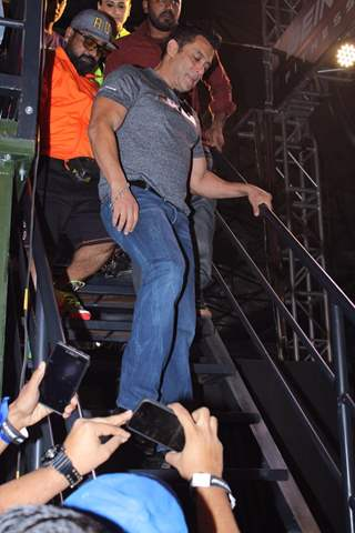 Salman Khan papped at the launch of Being Strong