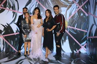 Jacqueline Fernandez, Gauri Khan and Karan Johar at the opening ceremony of Falguni Shane Peacock flagship store