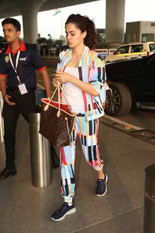 Taapsee Pannu papped at the airport