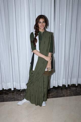Kriti Sanon snapped during the promotions of Panipat