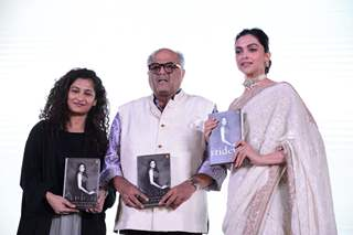 Deepika Padukone, Gauri Shinde and Boney Kapoor at Sridevi's book launch
