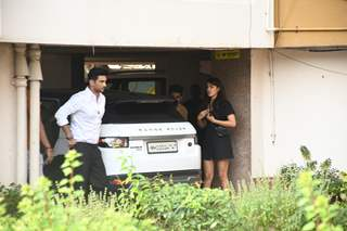 Sushant Singh Rajput and Rhea Chakraborty snapped around the town