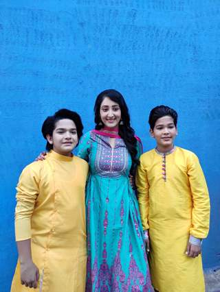 Shivya Pathania with Harshit Kabra and Krish Chauhan