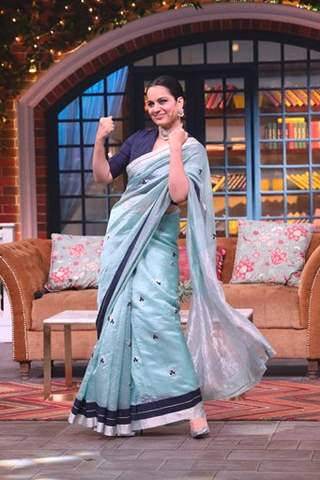 Kangana Ranaut on the sets of The Kapil Sharma Show