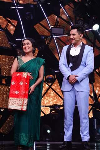 Aditya Narayan and Neha on Indian Idol 11