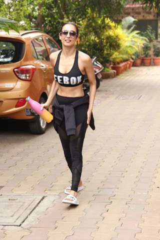 Malaika Arora spottted outside gym