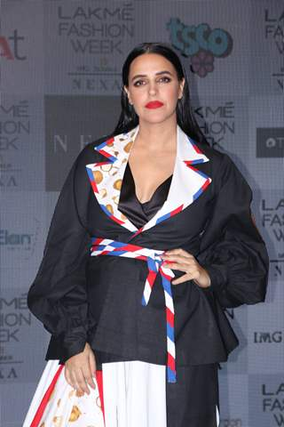 Neha Dhupia spotted at Lakme Fashion Week