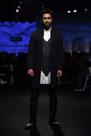 Vicky Kaushal walked the ramp at Lakme Fashion Week