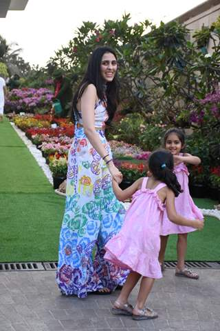 Shloka Ambani with her little nieces at holi house party