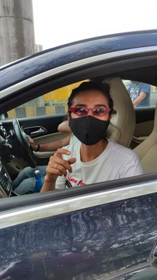 Patralekha snapped around the town!