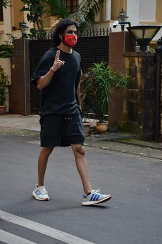 Harshvardhan Kapoor snapped in Juhu