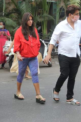 Ekta Kapoor snapped at Juhu