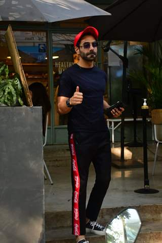 Aparshakti Khurana  snapped at Kitchen Garden Bandra
