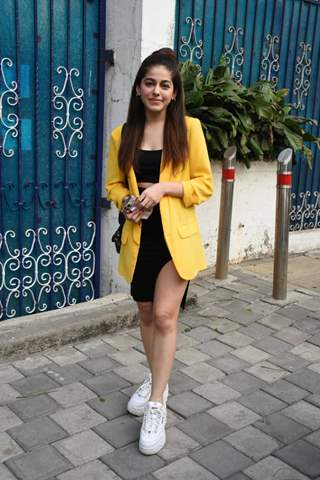 Alaya F snapped outside Pooja Entertainment office, Juhu
