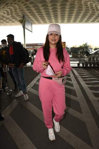 Television star Shehnaaz Gill snapped at airport