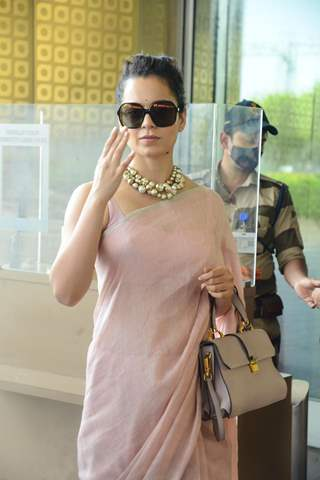 Kangana Ranaut snapped at airport