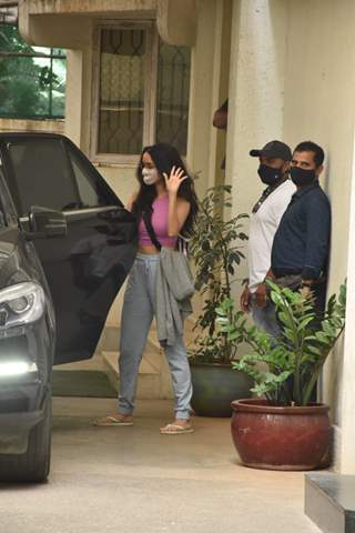 Shraddha Kapoor spotted at dubbing studio in Juhu