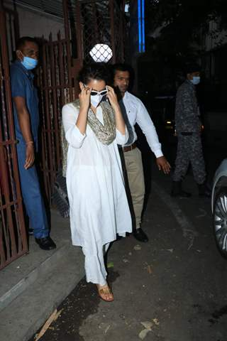 Kangana Rananut snapped at a dubbing studio in Bandra
