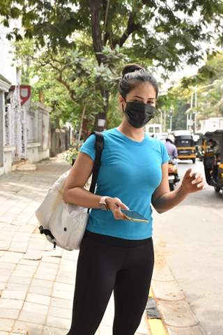 Kim Sharma snapped at a clinic in Juhu