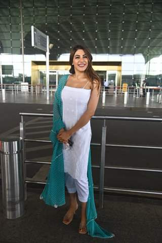 Bigg Boss 14 fame Nikki Tamboli snapped at airport