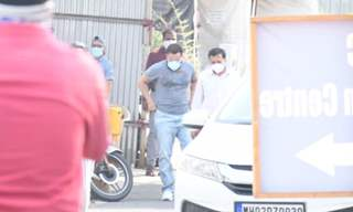 Saif Ali Khan arrives at vaccination centre in BKC