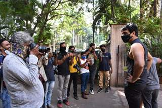 Sonu Sood snapped outside his residence